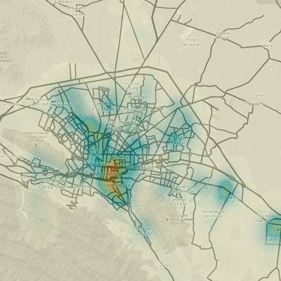 Map of homicides in Monterrey