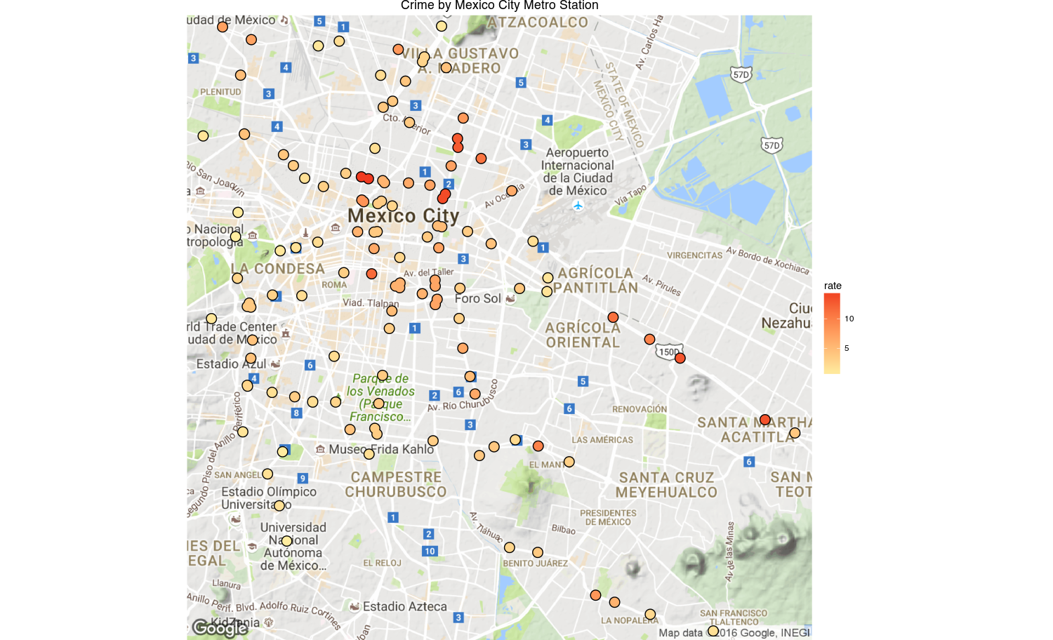How to create crime maps of Mexico City