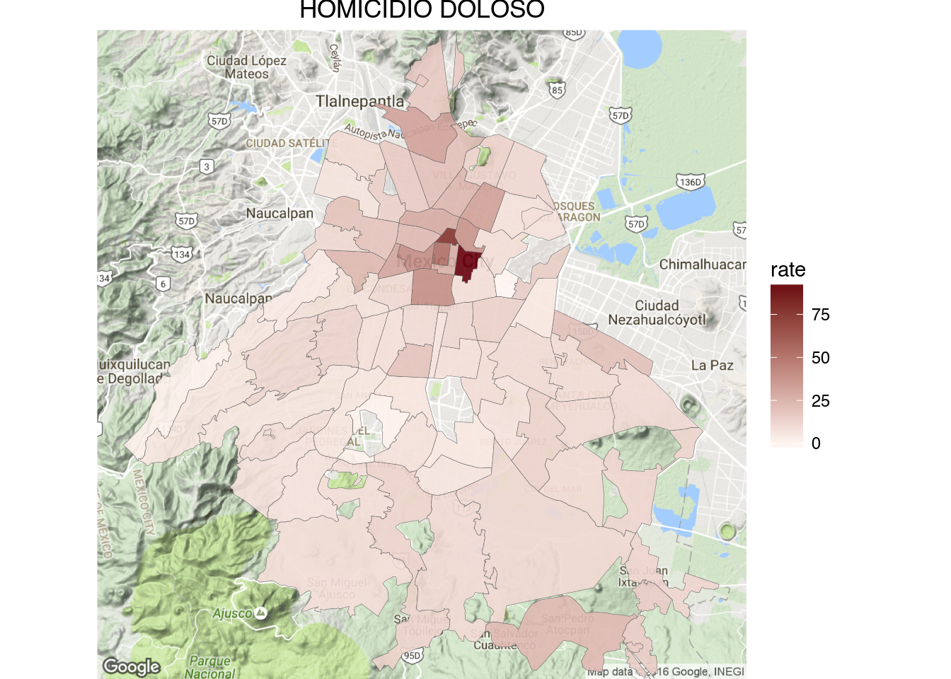 Mexico Map Mexico City.How To Create Crime Maps Of Mexico City