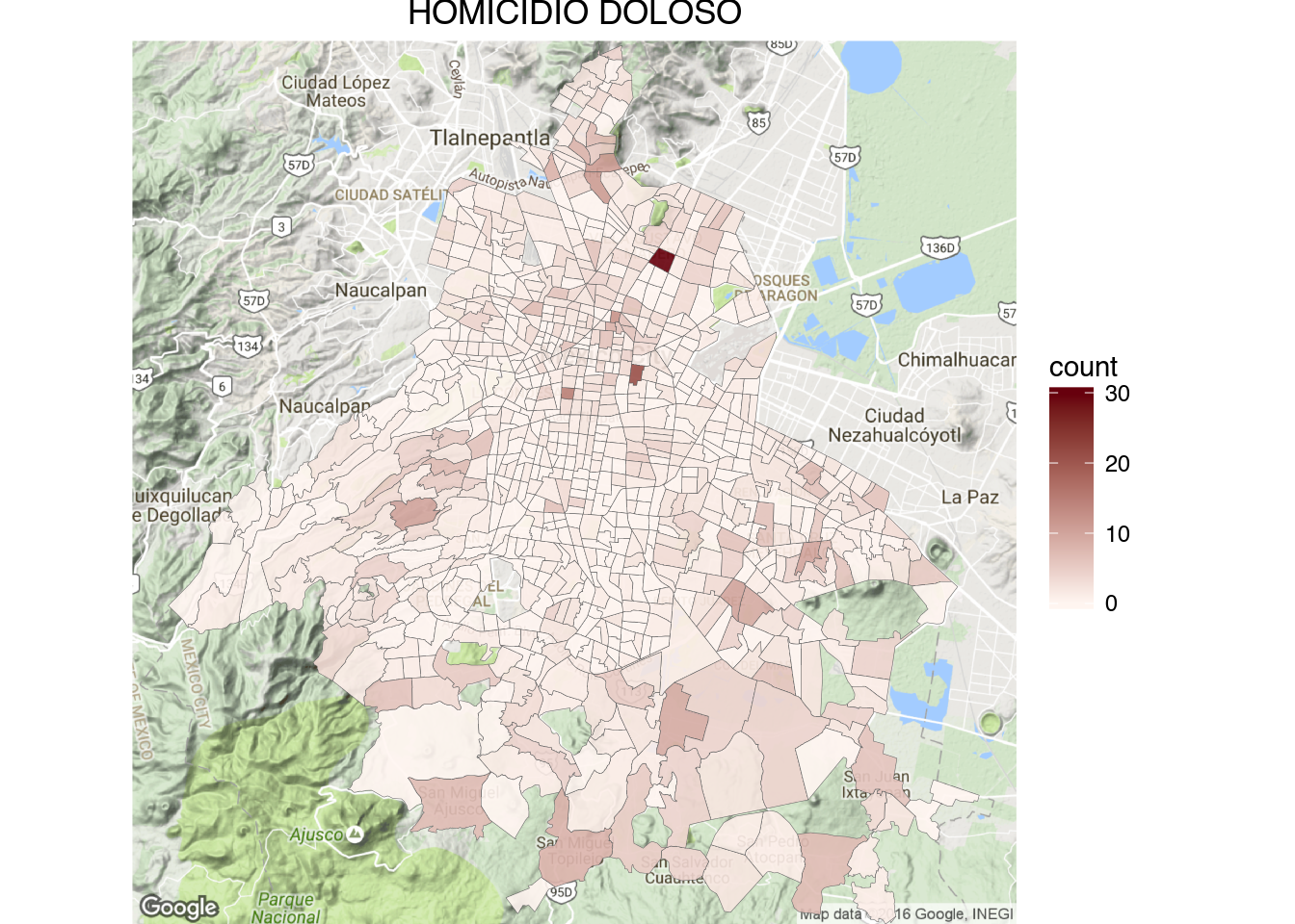 How to create crime maps of Mexico City Mexico City Google Maps on