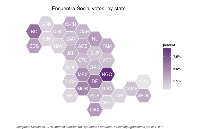Map Of Partido Encuentro Social