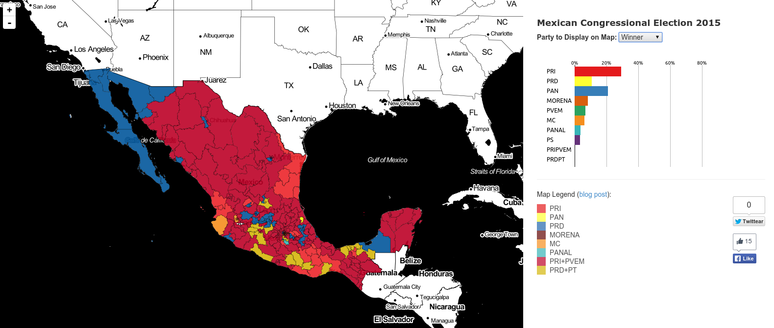 Maps Of The 2015 Mexican Election - 2015-us-election-results-map